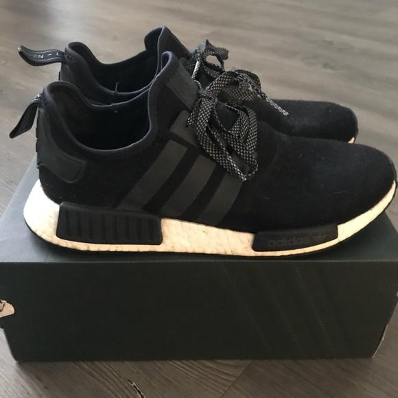 90becdc0f adidas Shoes | Nmd R1 Wool Blackwhite | Poshmark
